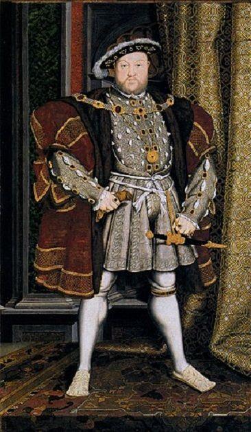 자신의 음경 크기가 커보이게 하기 위해 바지 속에 짚단을 넣고 다녔다 알려진 헨리8세의 초상화(사진=위키피디아)