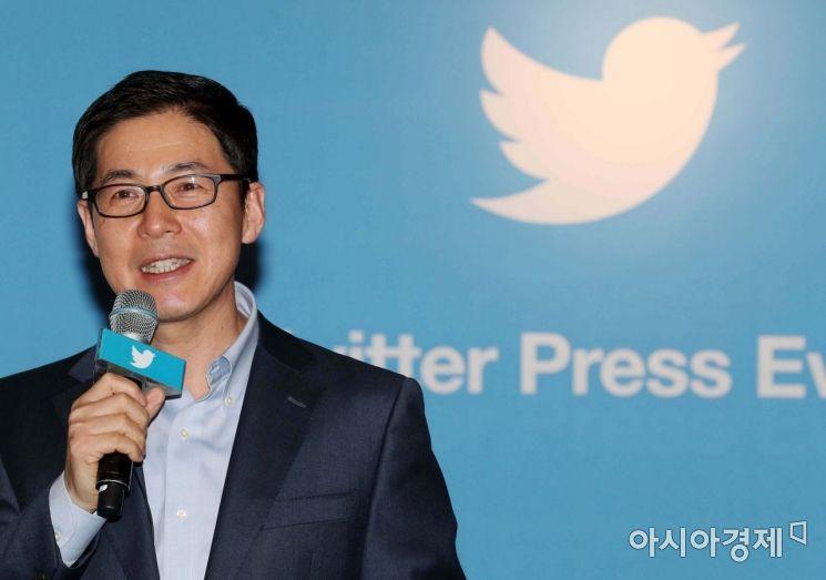 [포토]인사말하는 신창섭 트위터코리아 대표