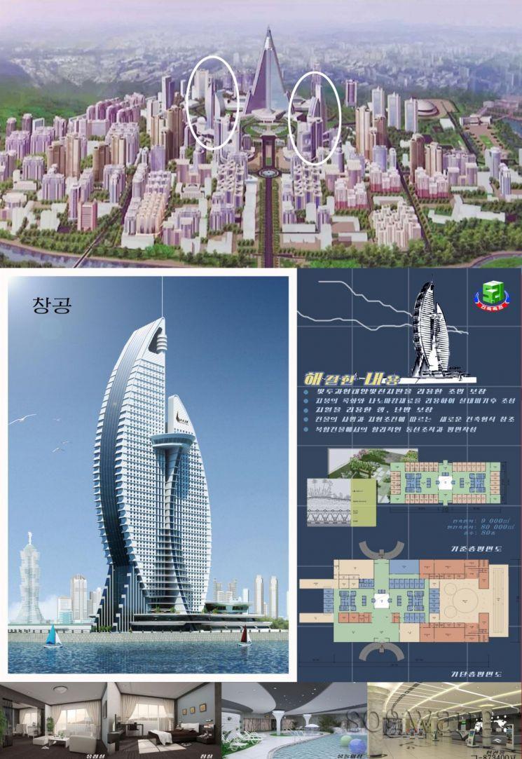 北, 고층빌딩 빼곡한 평양 청사진 공개…경제개발 의지 강조