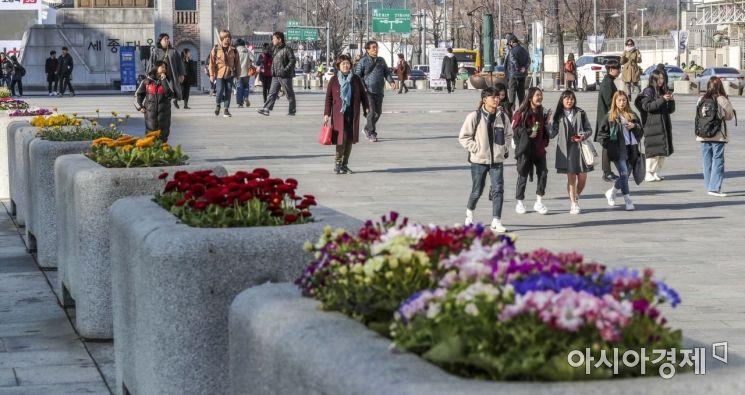 [포토]봄꽃 시샘하는 '꽃샘추위'