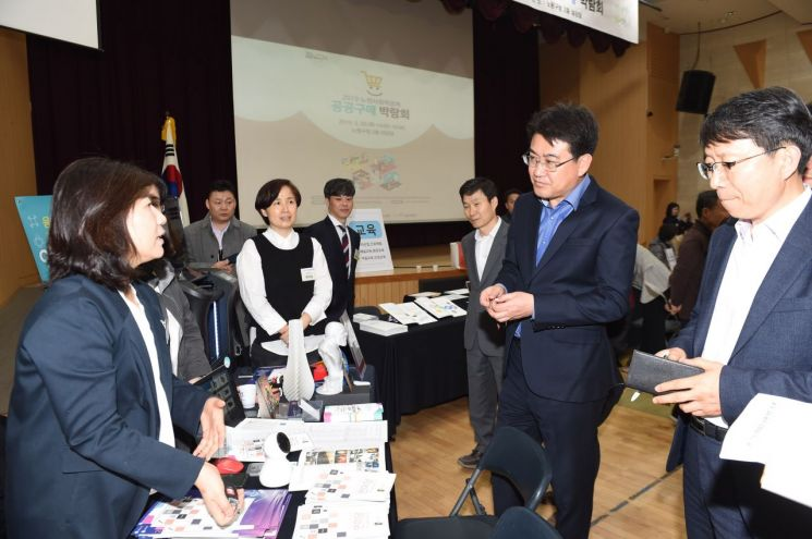 [포토]오승록 노원구청장, 사회적경제기업 공공구매 박람회 참석