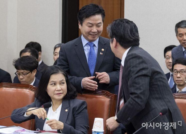 [포토] 홍종학 장관, 국회 산자위 출석
