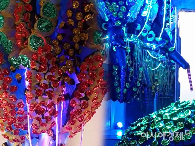 이병찬 작가의 '흰 코끼리' 전시장에 설치된 작품들.