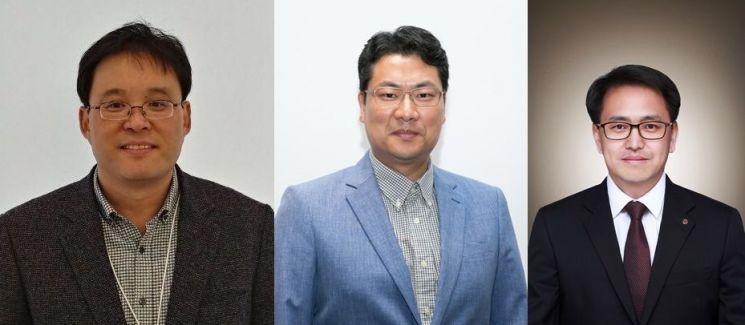 이통 3사에서 5G전략을 담당하고 있는 임원들. 왼쪽부터 김영걸 KT 무선사업담당 상무, 이재광  5GX전략그룹장(상무), 김대희 LG유플러스 5G전략담당 상무