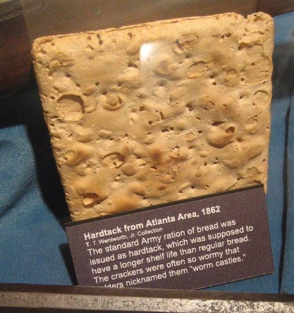 미국 남북전쟁 당시 먹던 건빵, 하드택(Hardtack)의 모습.(사진=방위사업청 블로그)