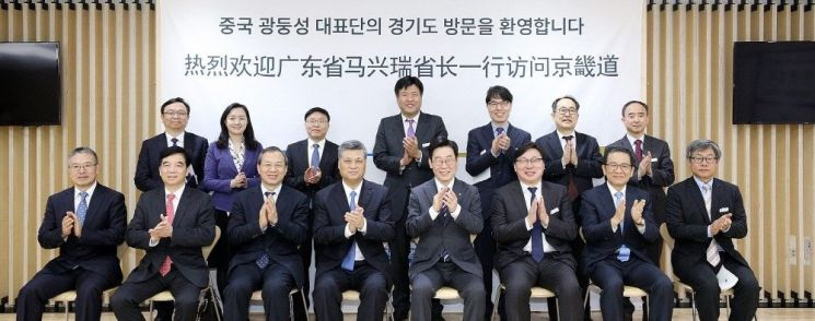 """이재명, 中 광둥성 성장 만나 """"대한민국 임시정부 유적 발굴·보존"""" 요청"""
