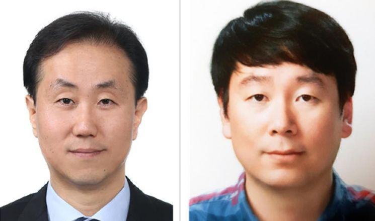 김용석 현대자동차 책임연구원(왼쪽) · 신호철 슈프리마 수석연구원