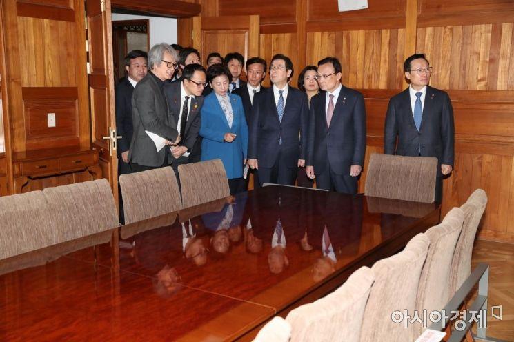[포토]경교장 찾은 더불어민주당