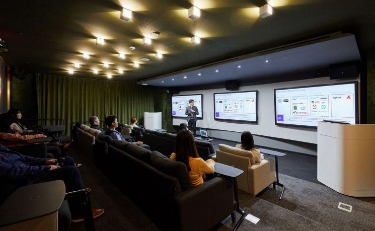 서울 종로구 한국마이크로소프트(MS) 본사에 마련된 테크놀로지센터 내 인비저닝 센터 전경(제공=한국MS)