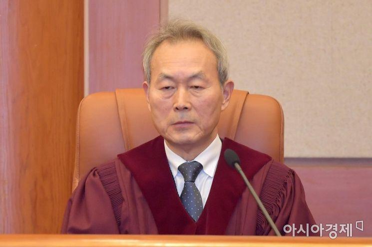임성근 부산고법 부장판사 탄핵심판 사건의 주심 이석태 헌법재판관./강진형 기자aymsdream@