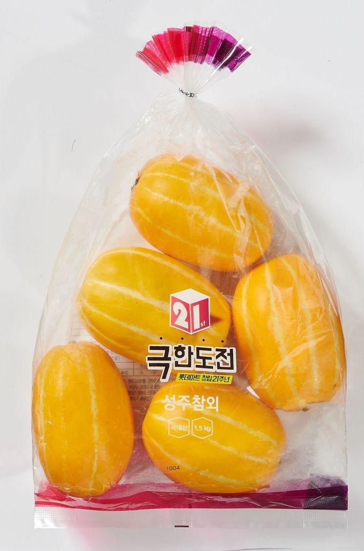 롯데마트, 100% 당도선별 성주참외 9900원에