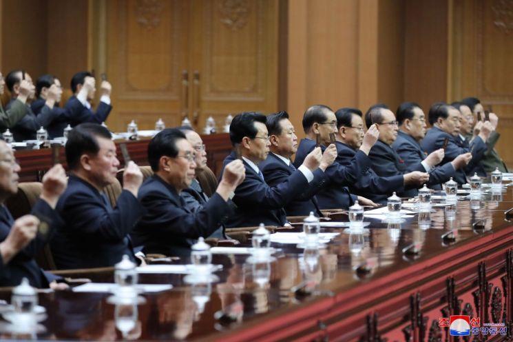 북한 최고인민회의 제14기 제1차회의가 지난 11일 만수대의사당에서 열렸다고 조선중앙통신이 12일 보도했다.
