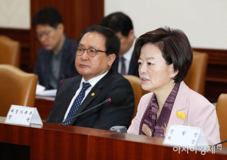 [포토]사회관계장관회의, 발언하는 진선미 장관