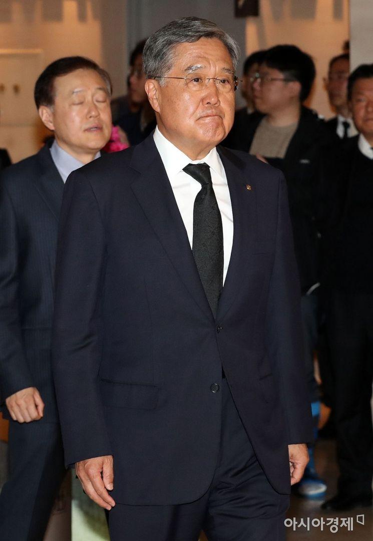 [포토] 조양호 회장 빈소 찾은 방상훈 조선일보 사장
