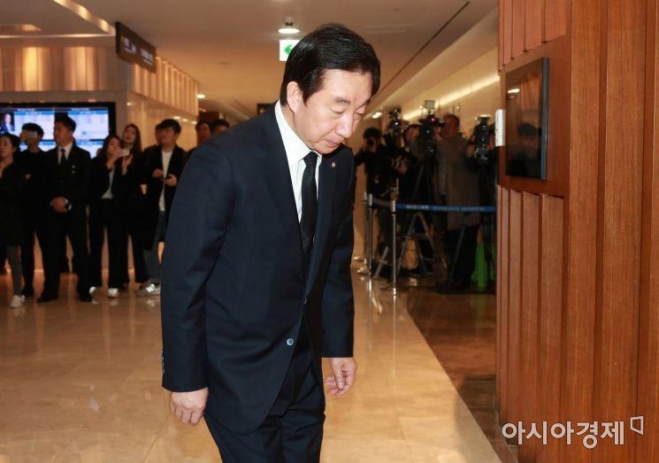 [포토] 김성태 의원, 조양호 회장 빈소 조문