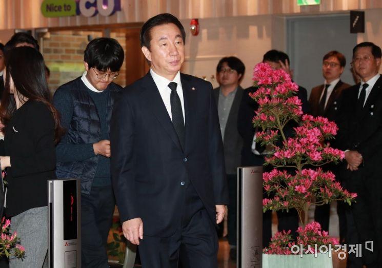 [포토] 조양호 회장 빈소 향하는 김성태 의원