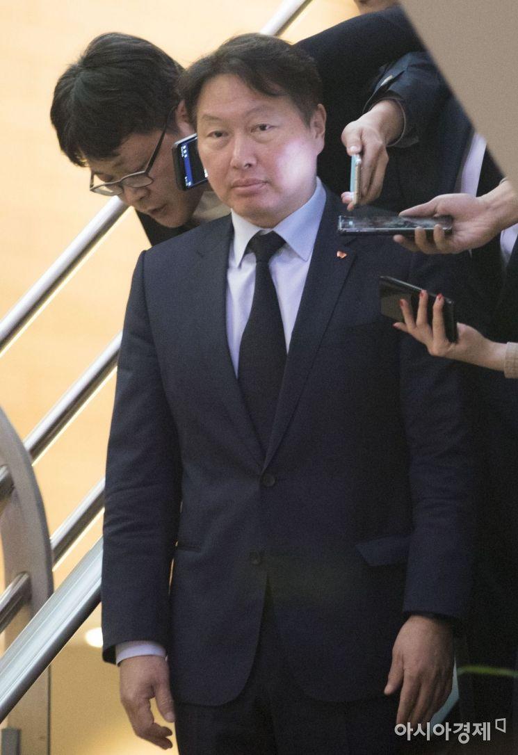 [포토] 조양호 회장 빈소 찾은 최태원 SK회장