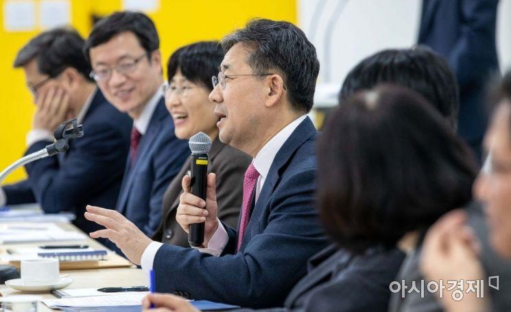 [포토] 모두발언하는 박양우 문화체육관광부 장관