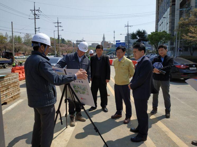 조봉업 행안부 지역발전정책관, 서구 농성지하차도 공사현장 점검