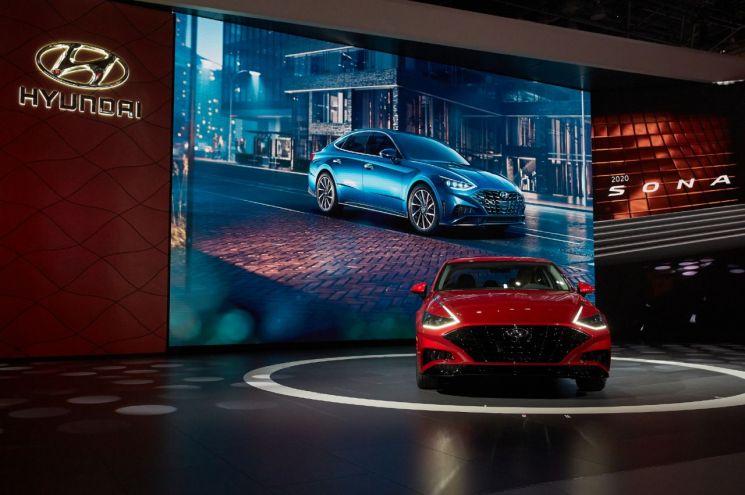 2019 뉴욕 오토쇼에서 소개된 현대차 신형 쏘나타/사진=현대차