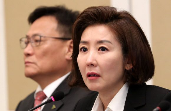 장애인 정책간담회에서 발언을 하는 나경원 자유한국당 원내대표 / 사진 = 연합뉴스
