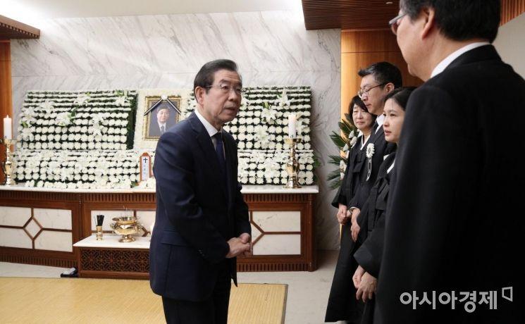 [포토] 고 김홍일 빈소 찾은 박원순 시장