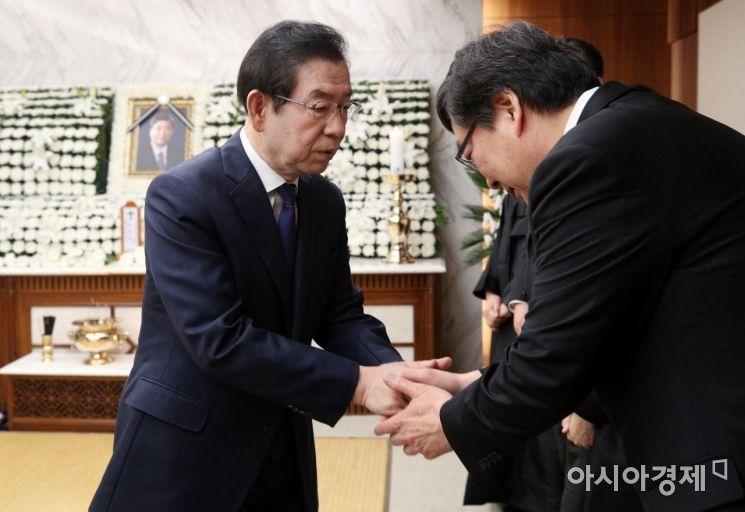 [포토] 고 김홍일 빈소 찾은 박원순 서울시장