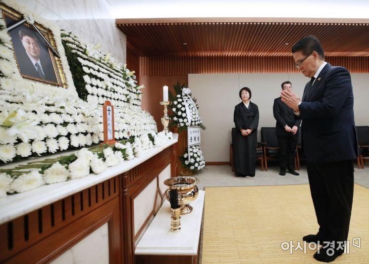 [포토] 고 김홍일 전 의원 빈소 찾은 박지원