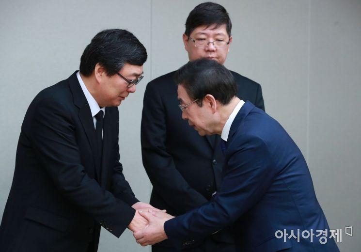 [포토] 고 김홍일 전 의원 빈소 찾은 박원순 시장