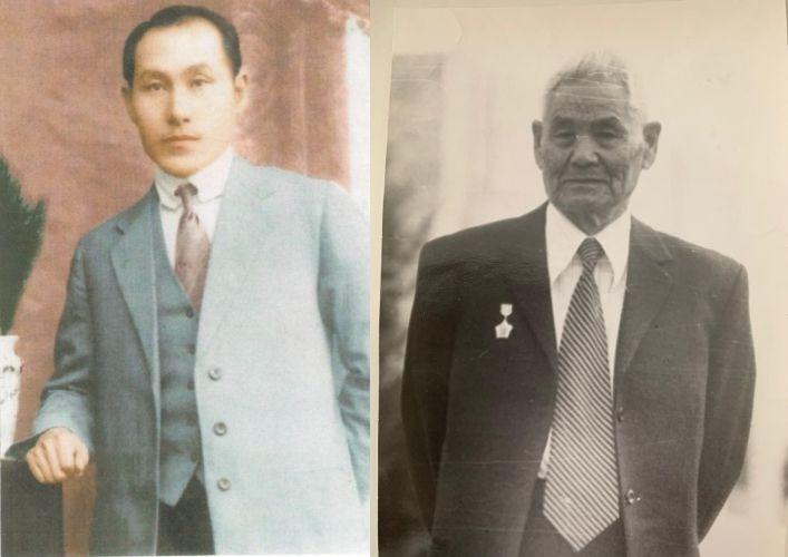 21일(현지시간) 카자흐스탄에서 국내로 유해가 봉환되는 독립유공자 계봉우 지사(왼쪽), 황운정 지사 (사진=청와대)