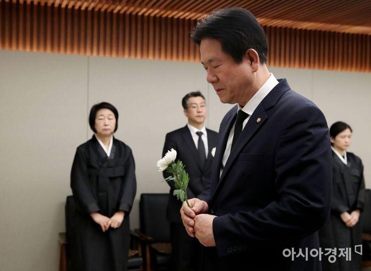 [포토] 조문하는 이동섭 바른미래당 의원