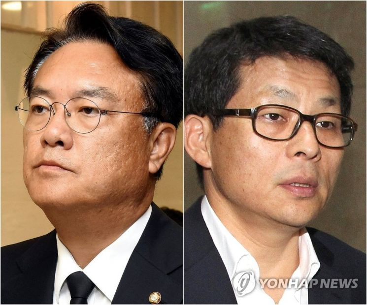 세월호 관련 '막말' 논란을 빚은 차명진 전 의원과 정진석 의원 / 사진 = 연합뉴스
