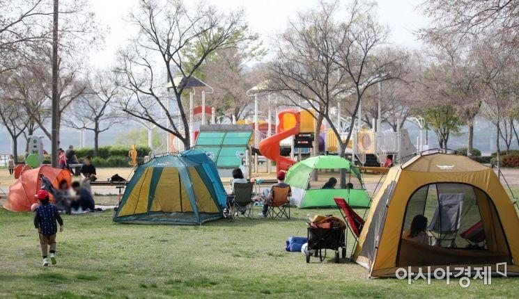 [포토] 한강공서원 '밀실' 텐트 설치 못한다