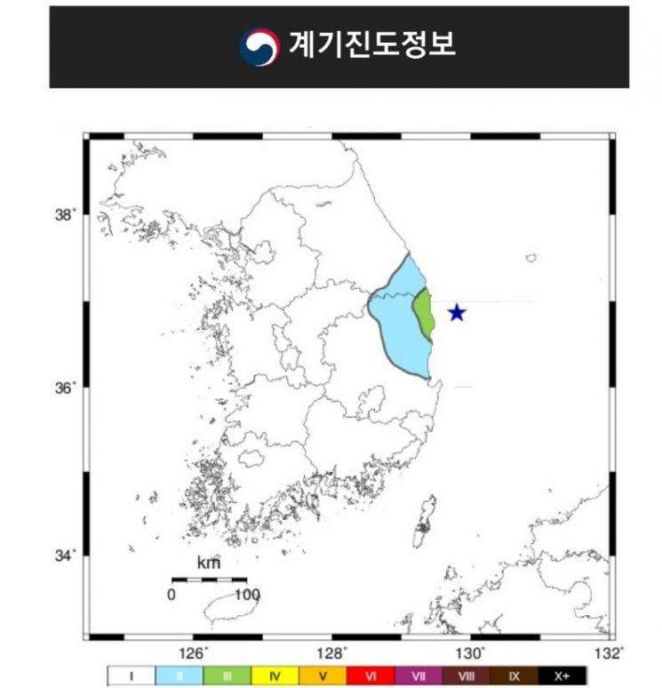 경북 울진 해역 지진, 강원 동해 지진과 연관성 적어