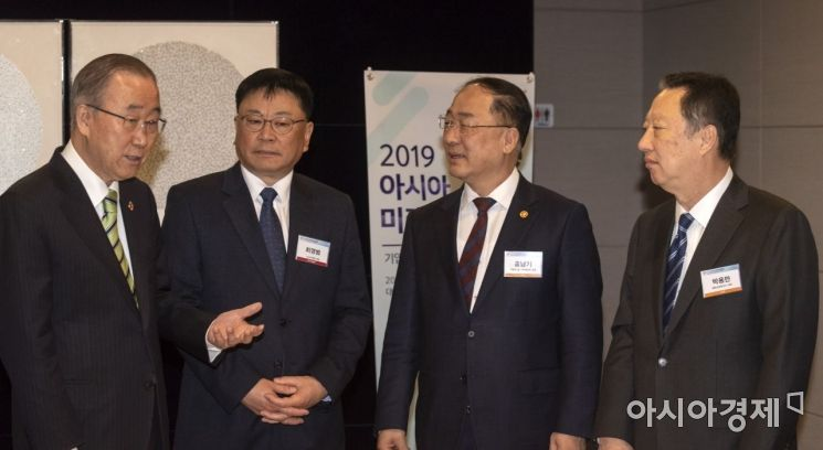 [포토] 아시아미래기업포럼 참석한 반기문 전 총장