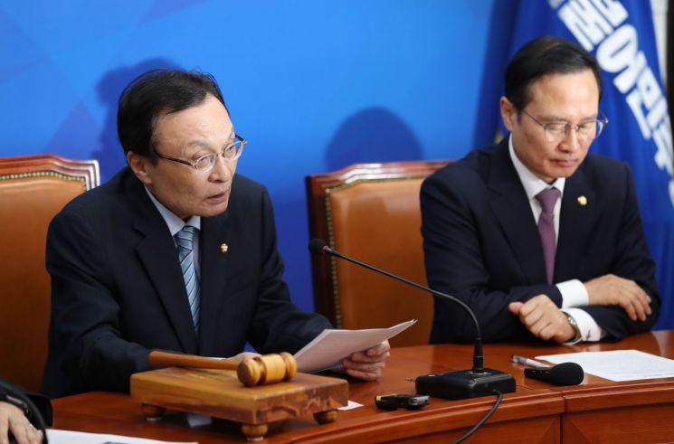 이해찬 더불어민주당 대표가 22일 최고위원회의에서 발언하는 모습. 사진=연합뉴스