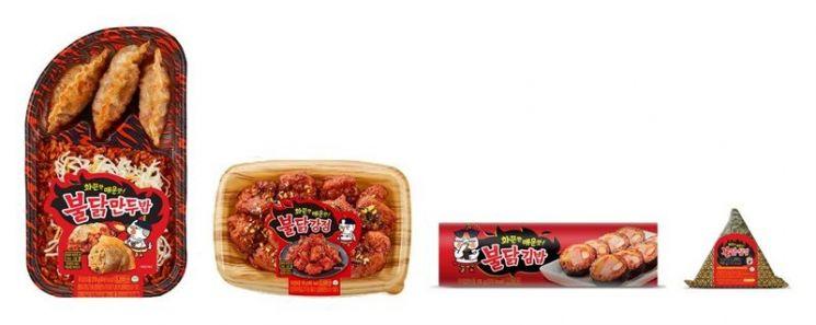 불닭·마라·왕갈비 소스 전성시대…CU, 불닭 간편식 시리즈 출시