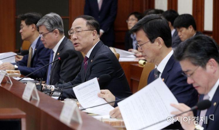 [포토] 홍남기 부총리, 산업경쟁력 강화 관계장관회의 주재