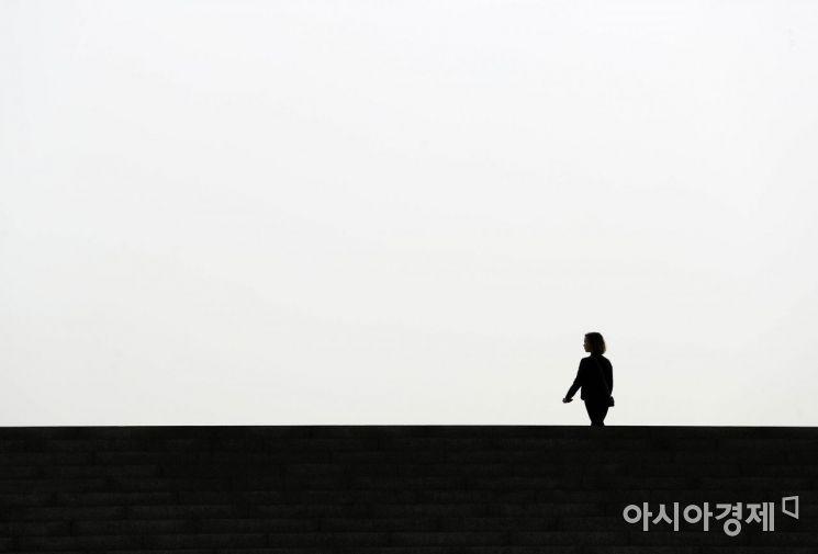 [포토]미세먼지 속에서