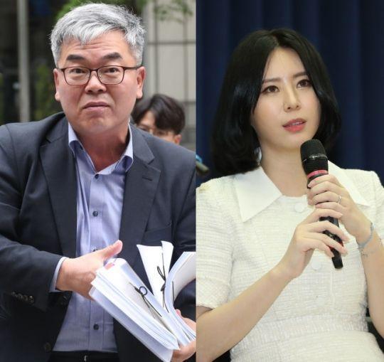 박훈 변호사(왼쪽)과 배우 윤지오 / 사진=연합뉴스