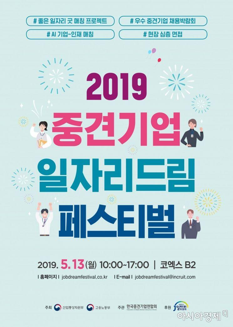 중견련, 중견기업 채용박람회 5월13일 개최