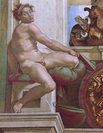 미켈란젤로, 이그누디, 시스티나 예배당 천장화, 1508년~1512년