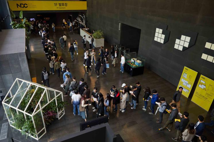 24일 넥슨 개발자 콘퍼런스(NDC)가 열린 경기도 성남시 넥슨 판교 사옥 내부 전경(제공=넥슨)