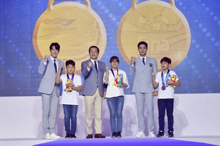 광주세계수영선수권대회 공식 유니폼 '첫 선'