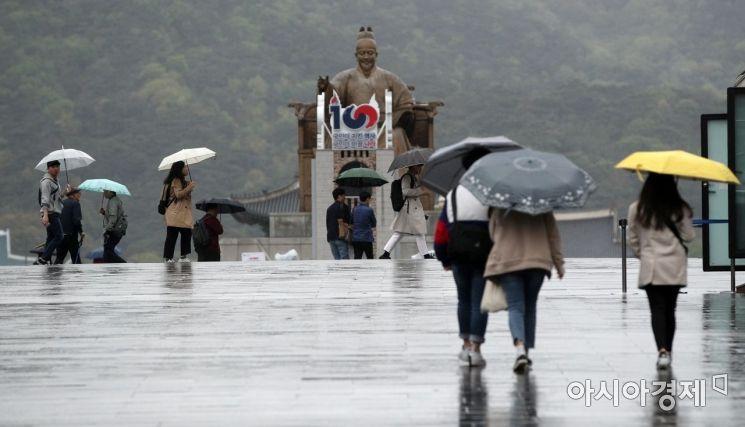 [포토] 비 내리는 광화문광장