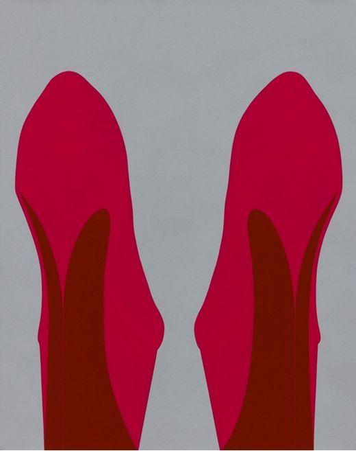 오병재 'Big Heels', 2019, Acrylic on canvas, 43㎝x34㎝  [사진= 애술린 갤러리 제공]