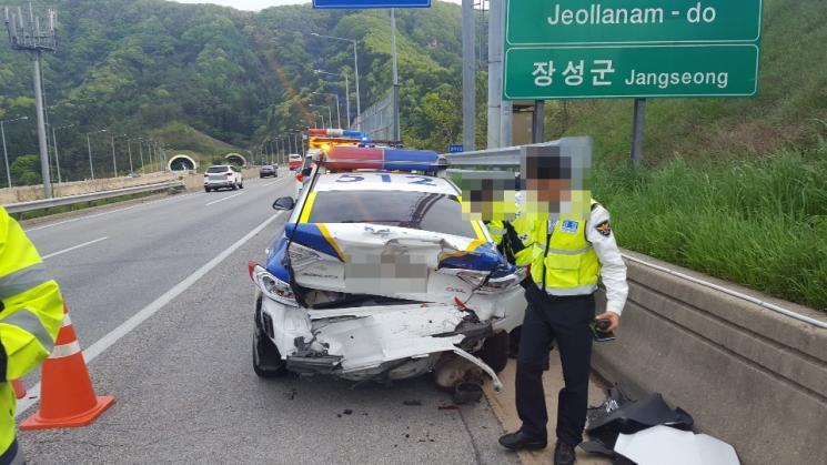 교통사고 처리 중 2차 사고 '경찰관 병원 후송'