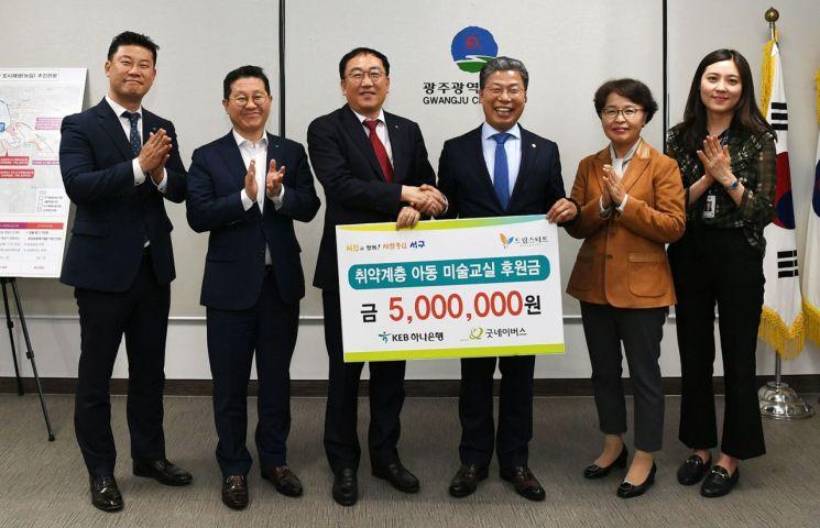 [포토] 광주 서구, 아동미술교실 후원금 전달식