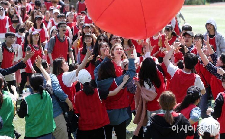 [포토] 외국인 유학생들의 즐거운 체육대회