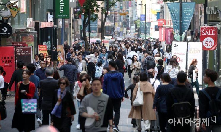 [포토] 관광객들로 붐비는 명동